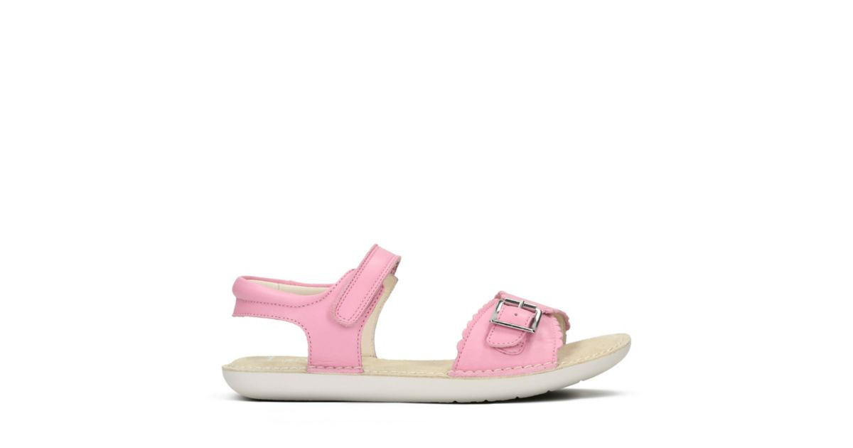 Ivy Blossom Youth Pink Leather - Toddler Girl Shoes - Clarks® Shoes  Official Site   Clarks