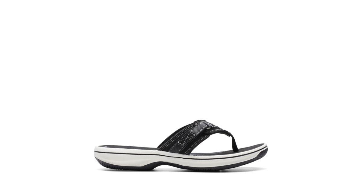 a4e0868e0dd26 Breeze Sea Black Synthetic - Women s Flip Flop Sandals - Clarks® Shoes  Official Site