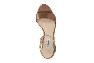 Amali Jewel Womens Sandals Bronze Leather