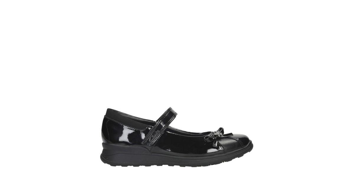 Mariel Wish Junior. Kids School Shoes. Black Patent
