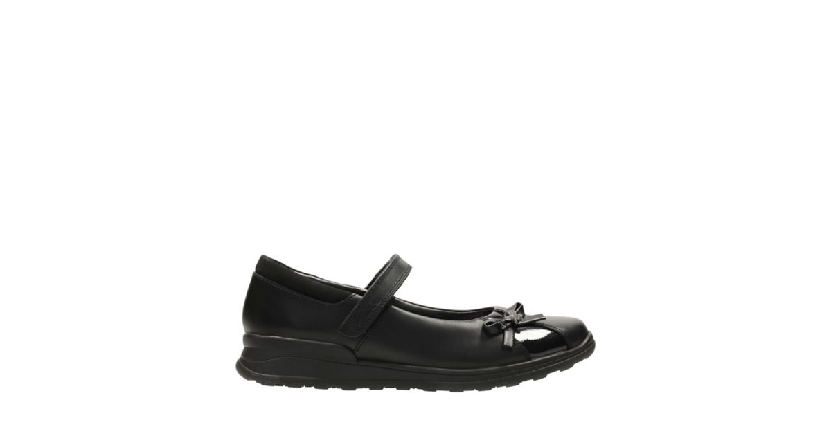 Clarks MarielWish Jnr Girl's School Shoes 2 E Black Leather 34k7dN2FjC