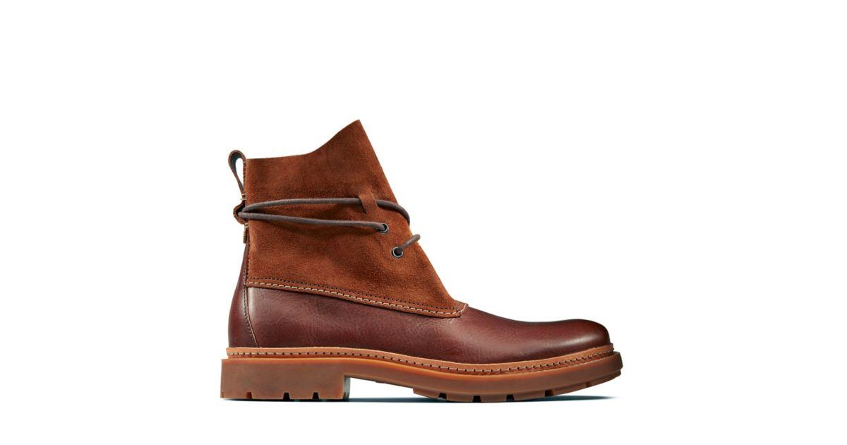 Trace Dusk Mahogany Leather - Men's Casual Boots - Clarks