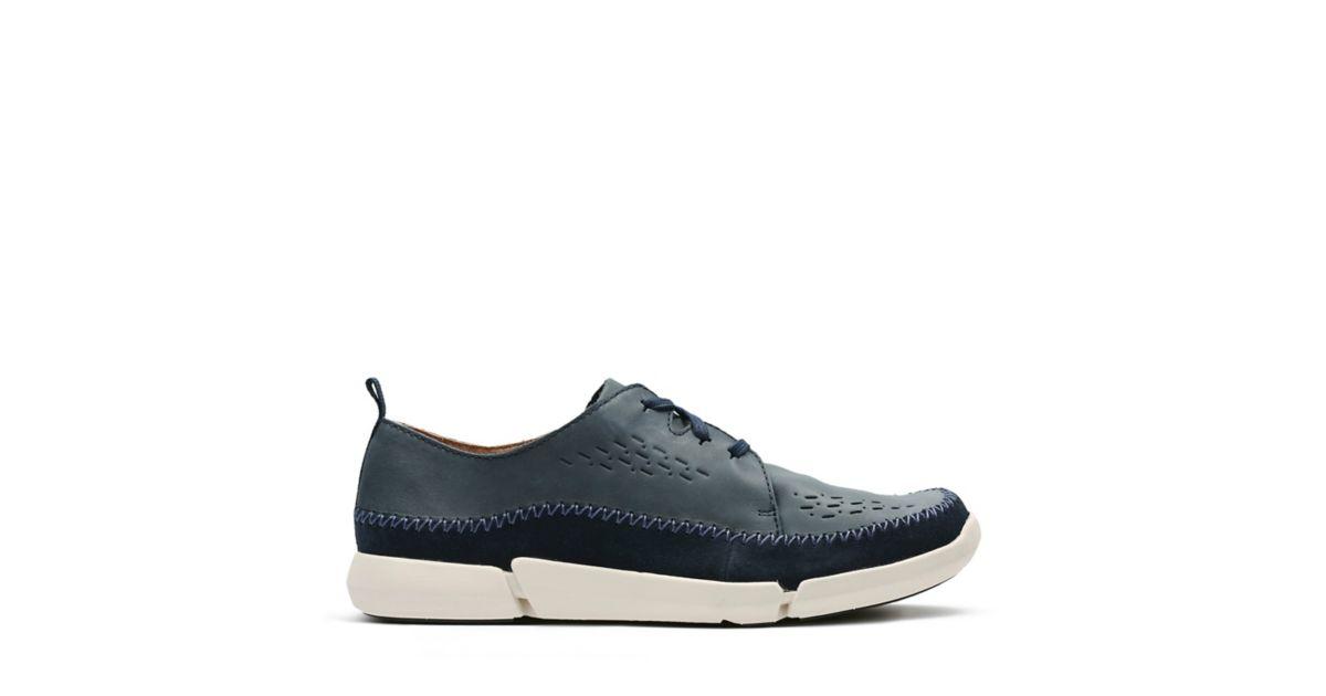 Trifri Lace Navy Nubuck - Men's Active Shoes - Clarks® Shoes Official Site  | Clarks