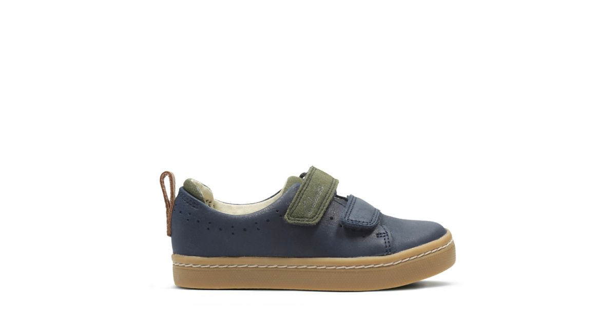 Cute Toy First Navy Leather - Boys Sneakers - Clarks® Shoes Official Site    Clarks