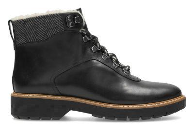 Clarks Witcombe Rock Black Leather mYhWWPzSB