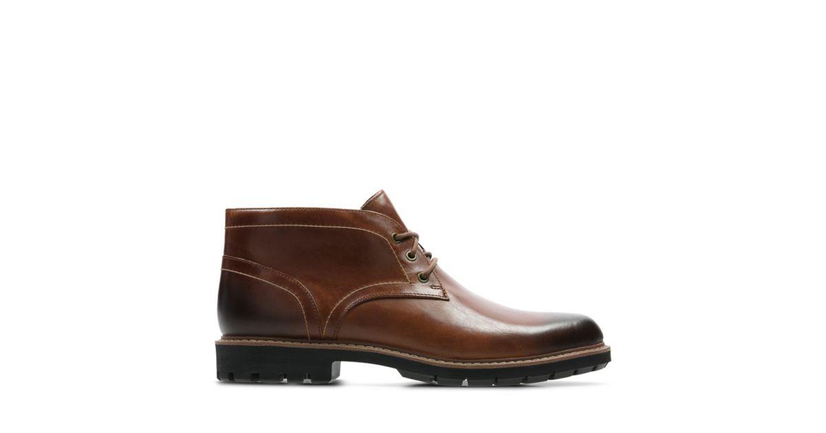 Officielle Tan Chaussures Batcombe Dark Lo Clarkspour Homme OPkXZiu