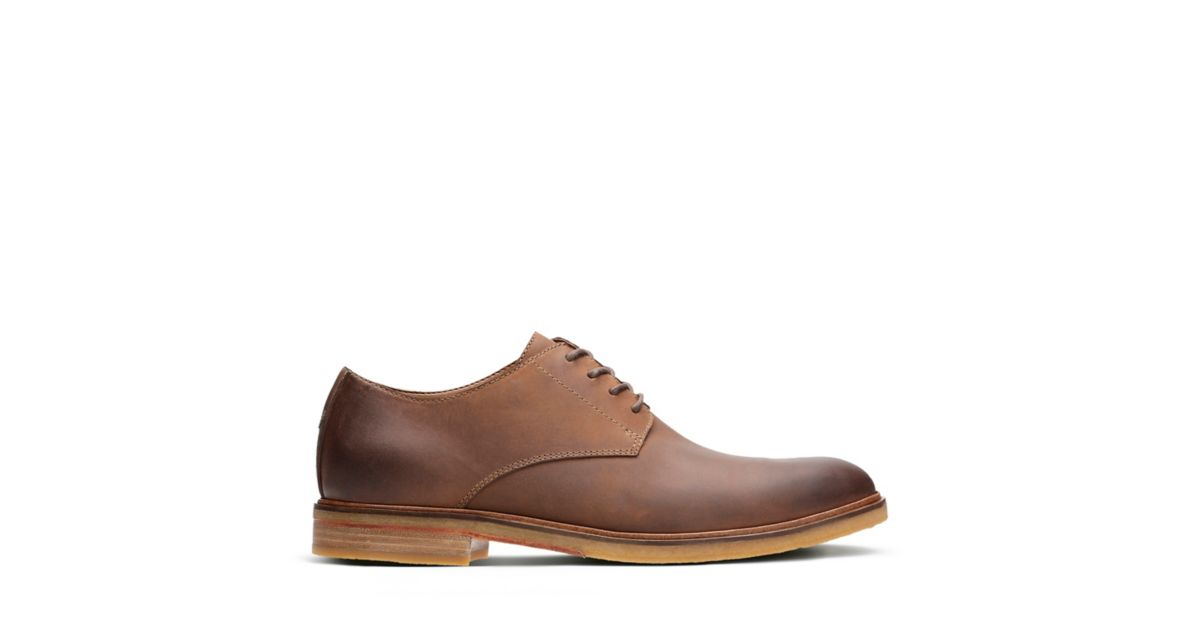 Clarkdale Moon Dark Tan Leather Men S Oxford Shoes
