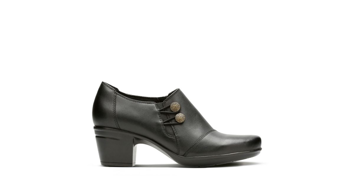 ddf6df0acb6 Emslie Warren Black Leather - Womens Narrow Width Shoes - Clarks® Shoes  Official Site