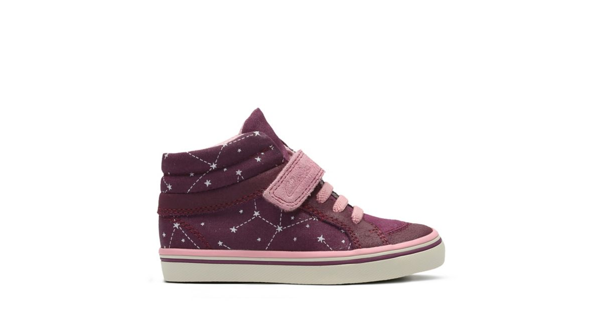 Juggle Tam First Dark Plum Canvas - Girls Sneakers - Clarks® Shoes Official  Site | Clarks