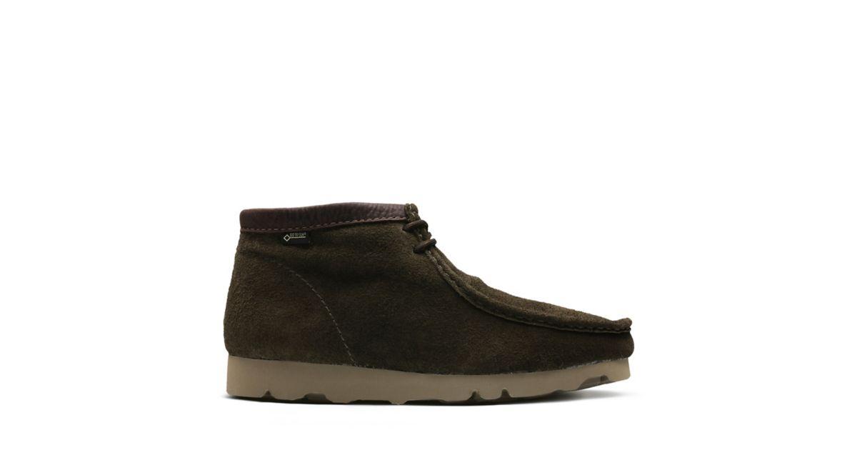 c3a16c6f4e89f0 Wallabee Boot GTX Peat Suede - Men s Boot Sale - Clarks® Shoes Official  Site