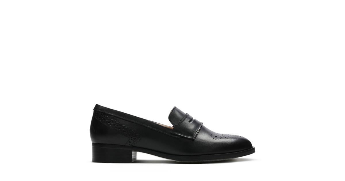 Netley Lola Black Leather - Shoes for Women - Clarks® Shoes Official Site |  Clarks