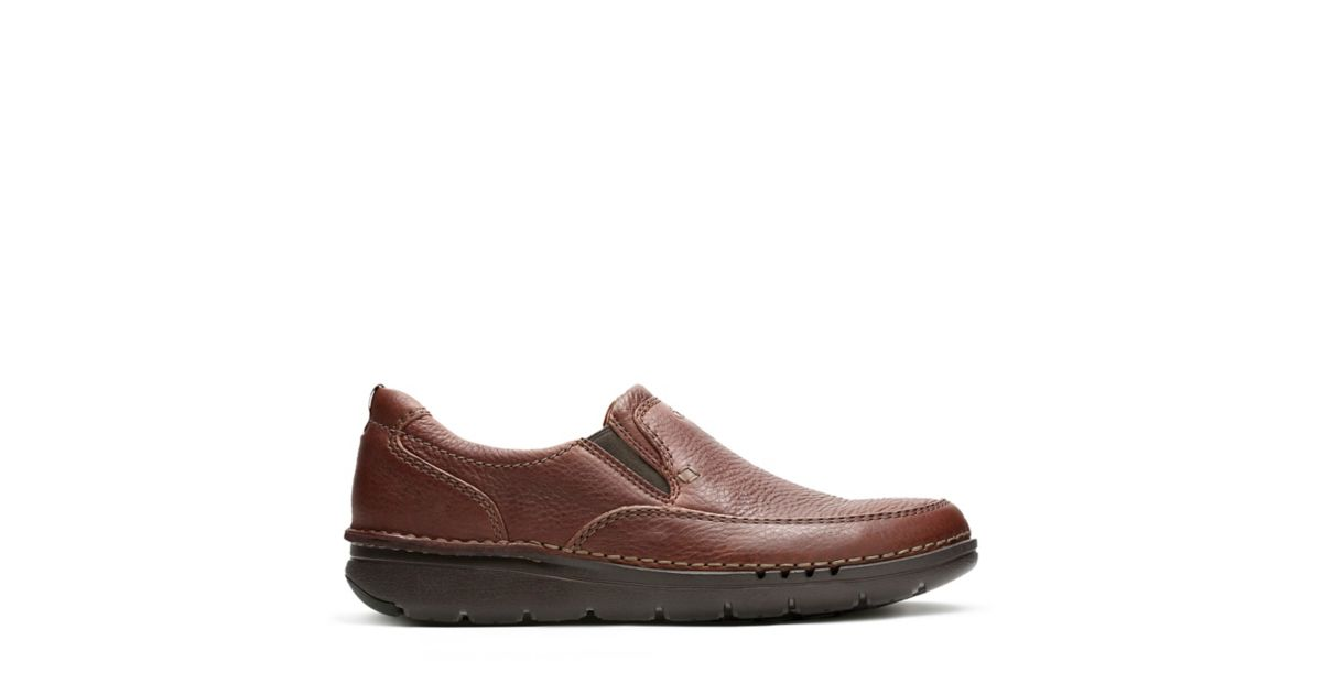 CLARKS SHOES UNNATURE EASY BROWN LEATHER