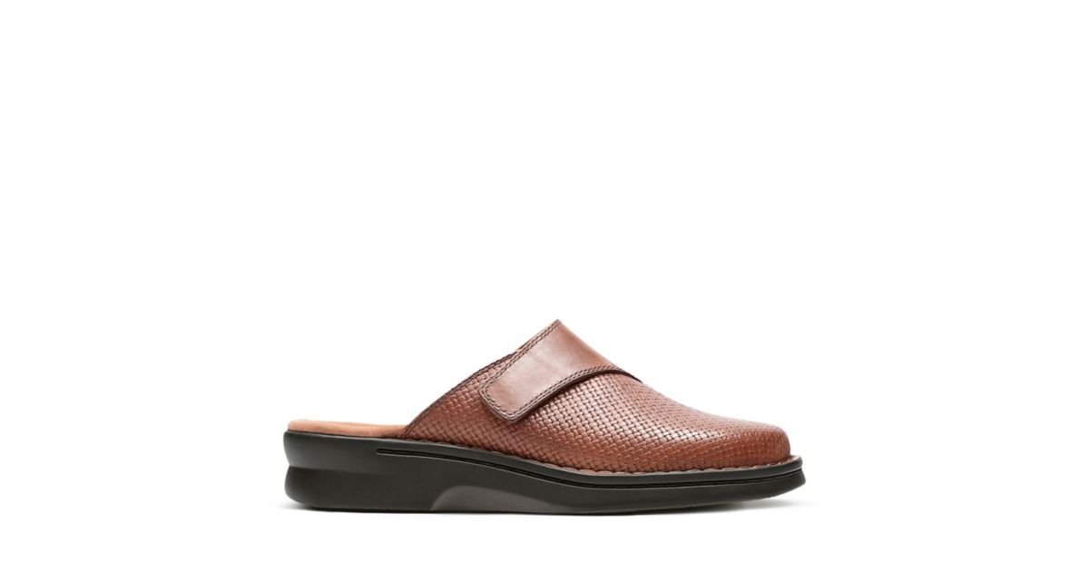 Patty Tayna Dark Tan Leather Ortholite Shoes For Women