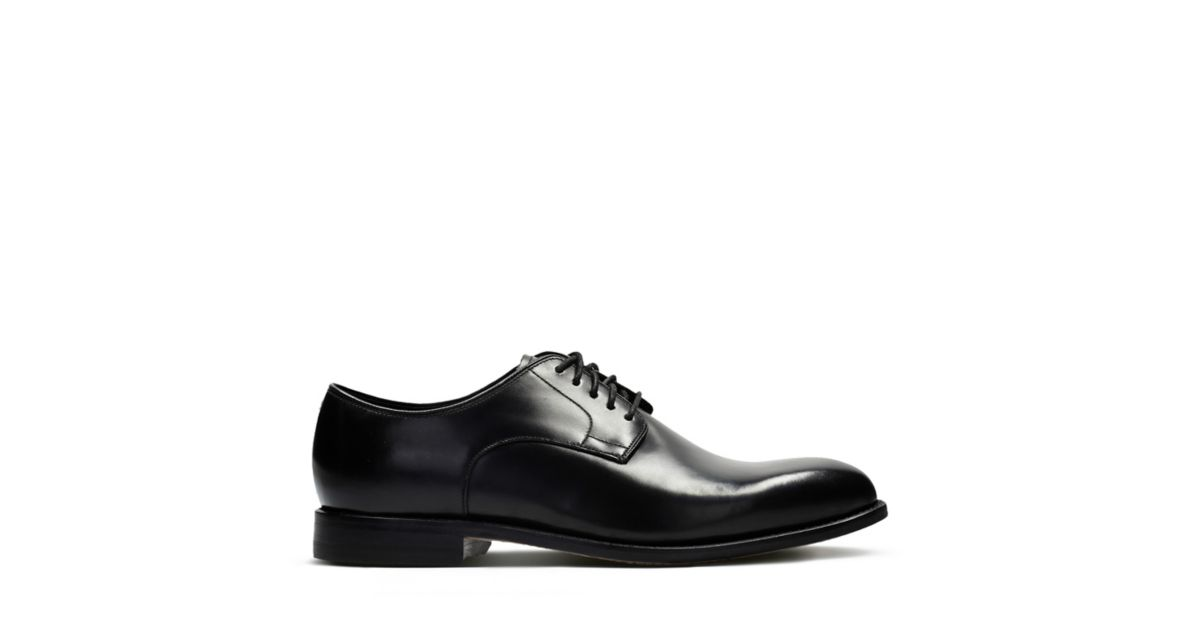 Ellis Leon. Mens Shoes. Black Leather