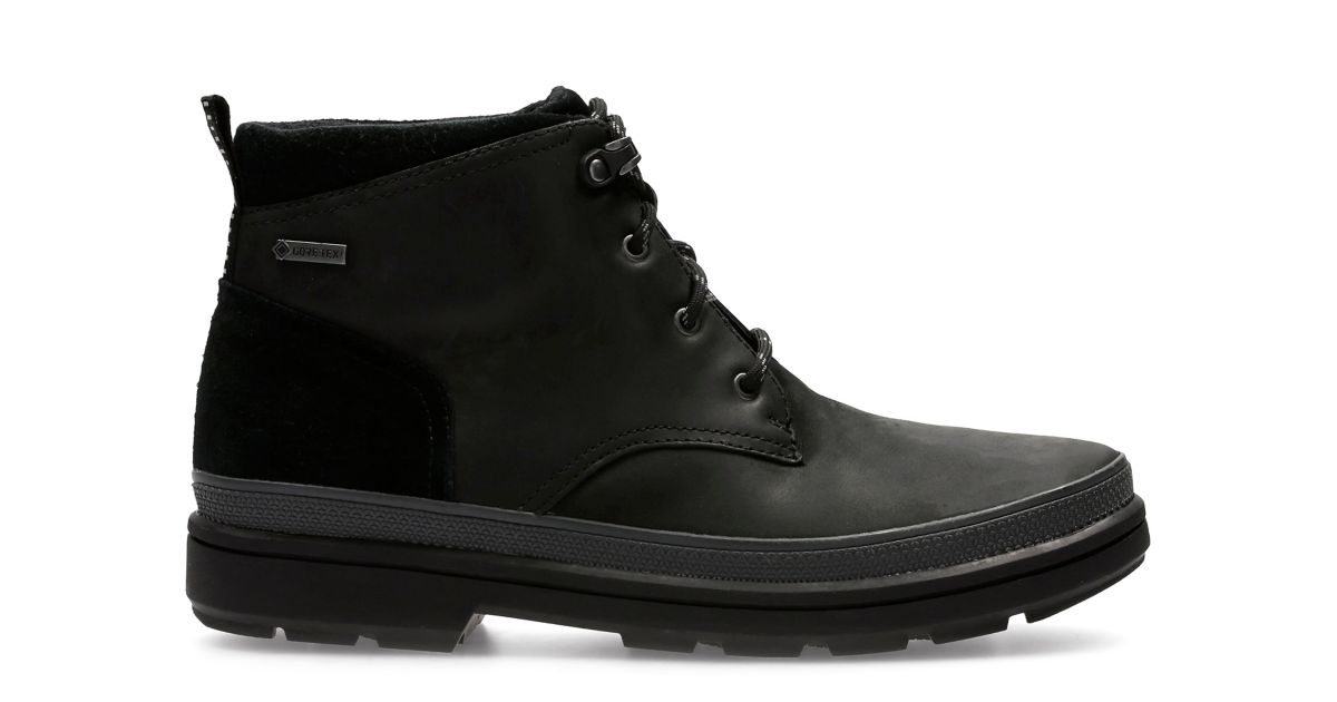 Rushway Mid Gore Tex 174 Black Leather Clarks