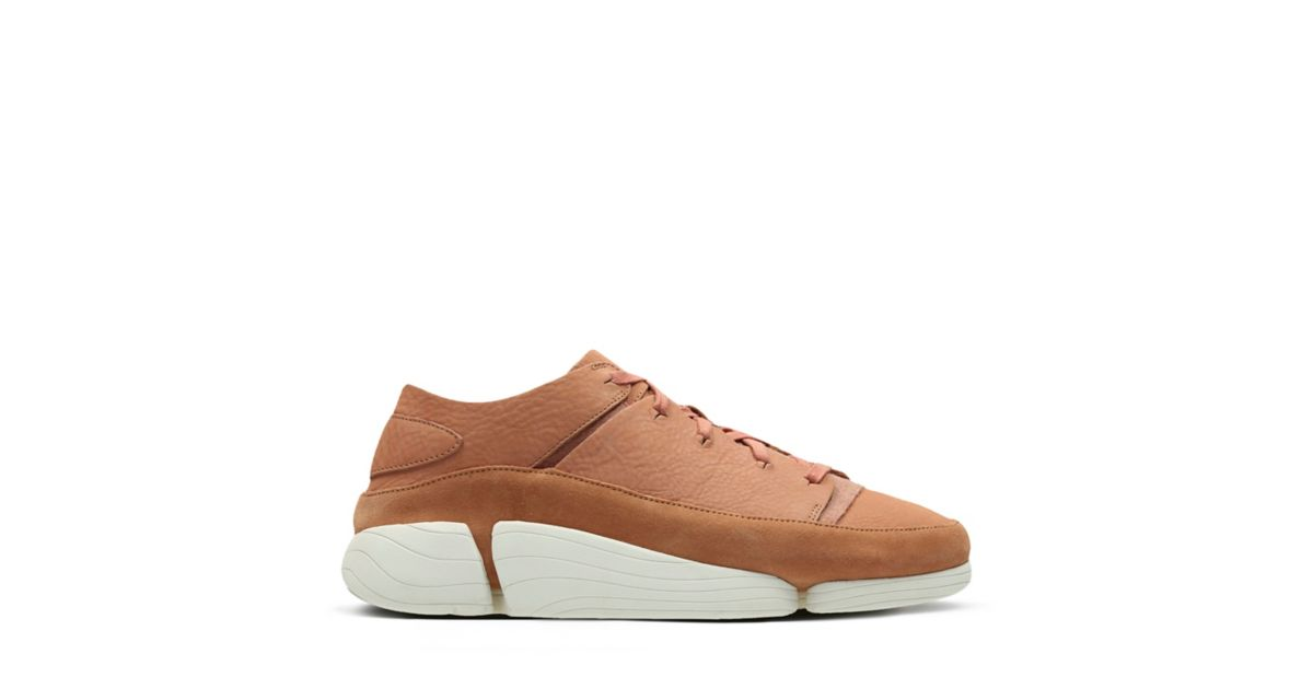 Clarks Originals Trigenic Evo Mens Footwear Dress Shoes - Oak Nubuck All Sizes