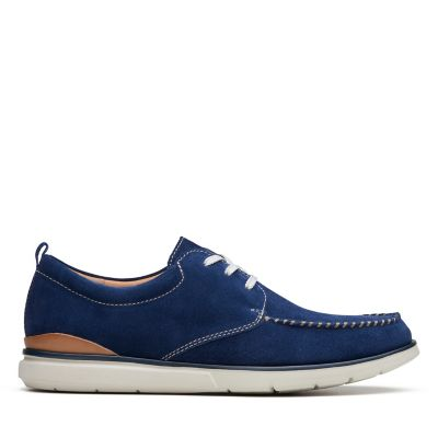 Clarks Edgewood Mix Blue Suede Mens Shoes