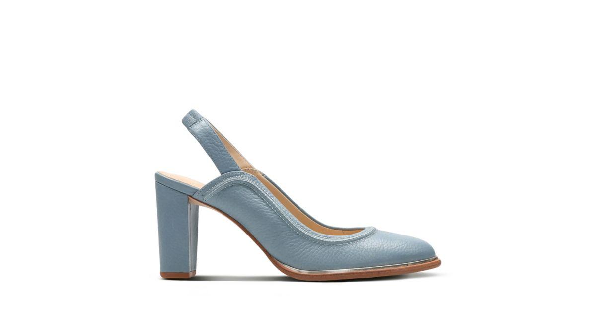 Ellis Ivy Blue Leather Women S New Arrivals Clarks