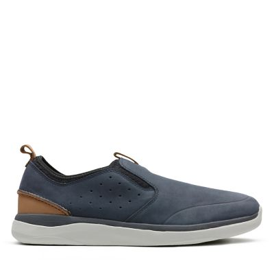 Garratt Slip Mens Shoes Navy Nubuck