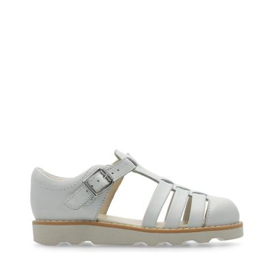 Clarks zapatos de las muchachas de lilfolk popular mini peg pre walker Grey Leather 12 F R86j4xw