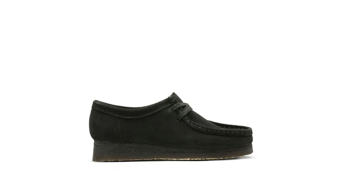 Wallabee Black Suede - Womens Originals - Clarks® Shoes Official Site  0aba8fe2e7