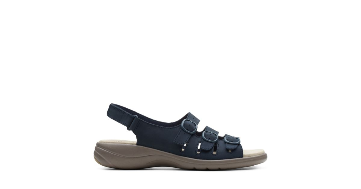 2f1a18c64216 Saylie Quartz Navy Nubuck - Women s Wide Width Shoes - Clarks® Shoes  Official Site