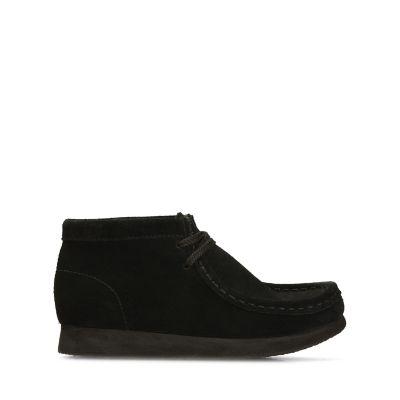Wallabee Boot. Black Suede