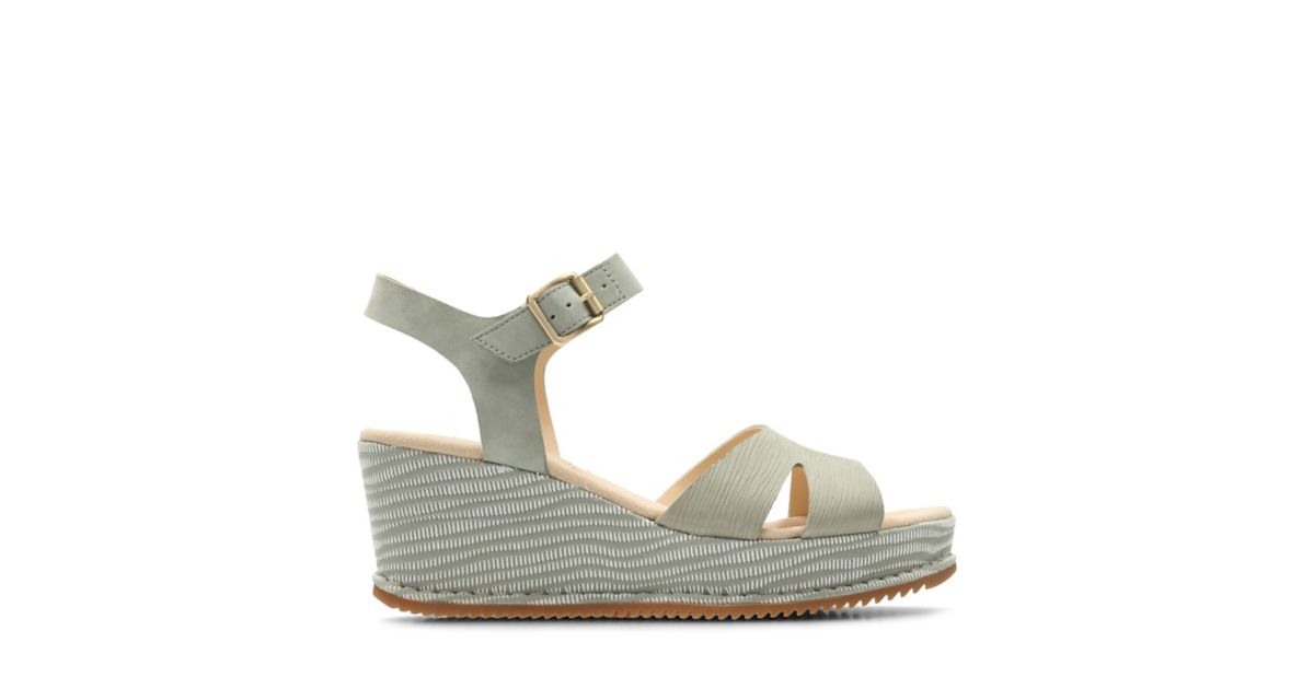 0c97f49c9630 akilah eden light green combi nubuck womens wedge sandals clarks® shoes  official si.