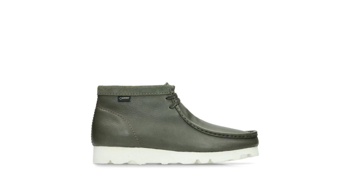 Wallabee Boot Gore Tex Olive Nubuck Clarks