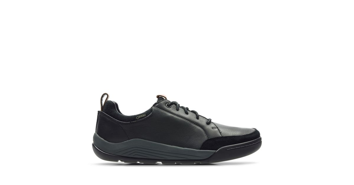 Ashcombe Bay Gore Tex Black Leather Clarks