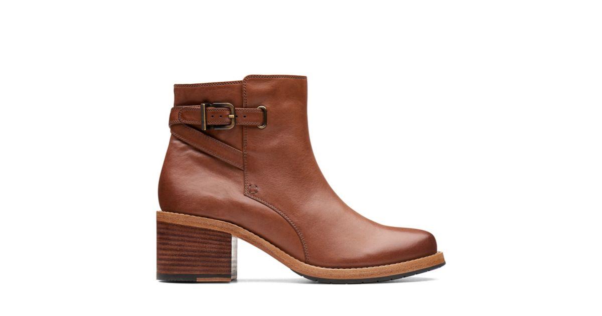 54642be07f738 Clarkdale Jax Dark Tan Leather