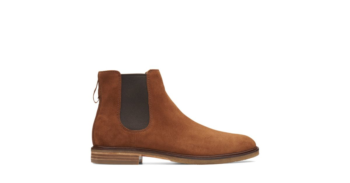 8e11a6074a0ab3 Clarkdale Gobi Dark Tan Suede - Mens Chelsea Boots - Clarks® Shoes Official  Site