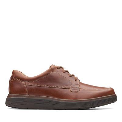new product 91abb 1d6e1 Un Abode Ease. Zapatos para hombre. Cuero Marrón Tostado Oscuro