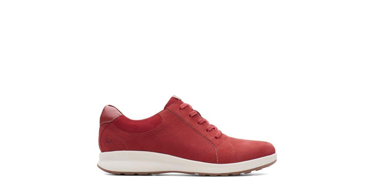 Un Adorn Lace Red Combi Clarks