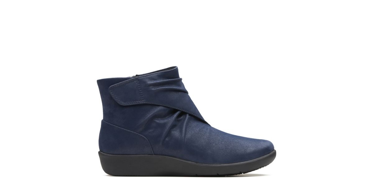 9eed1ff3fcdb Sillian Tana Navy Synthetic - Womens Boots - Clarks® Shoes Official Site