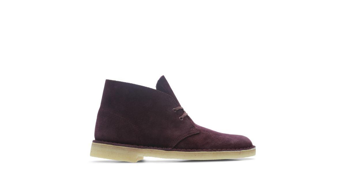 Shoes Bordeaux Boot Desert Suede Official Clarks® Site Clarks qSUwnI