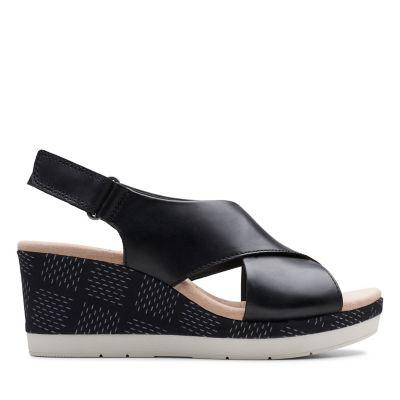3213ffefd4a7ae Cammy Pearl. Womens Sandals. Black Leather