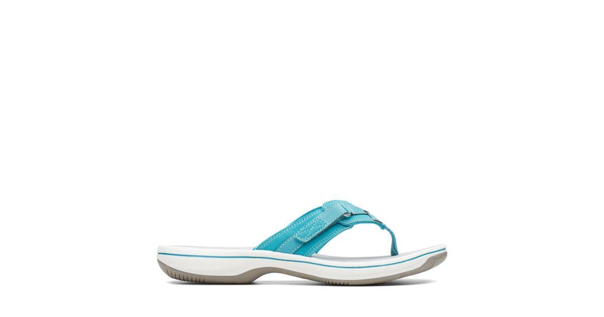 da8ddfbf8d49dd Breeze Sea Aqua - Womens Flip Flops - Clarks® Shoes Official Site ...