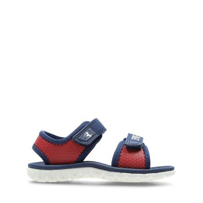 2cf2aeab665a3c Surfing Web Toddler. Kids Sport Sandals. Red