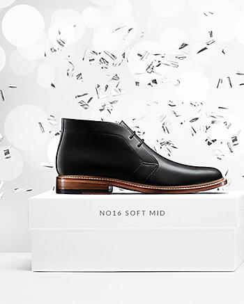 No16 Soft Mid Black Leather