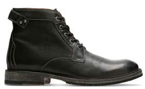 Clarkdale Bud, men's boots in black leather