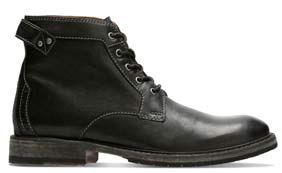 Clarkdale Bud, botas para hombre en Cuero negro