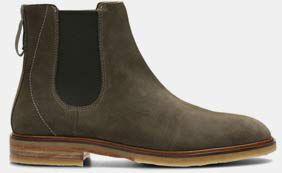 Clarkdale Gobi, Chelsea Boots für Herren in tabakbraunem Veloursleder