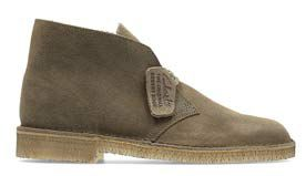 Herren Desert Boots, in taupebraunem Premium-Veloursleder
