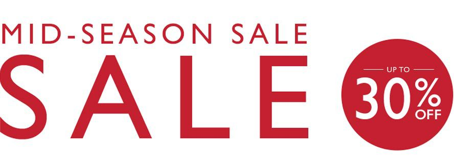Sale, up to 30% off.