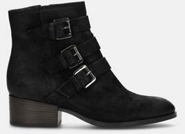Elvina haze, Black suede womens biker boot