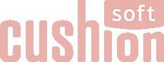 Cushion soft pink logo