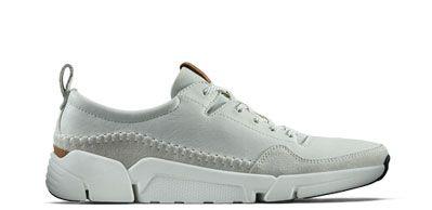 Baskets pour Homme en cuir blanc