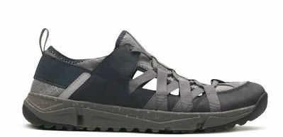 Men's sandals in black leather