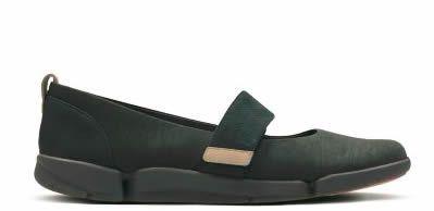 Women's casual shoes, navy nubuck